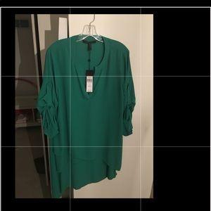 BCBGMAXAZRIA Green L NWT Blouse